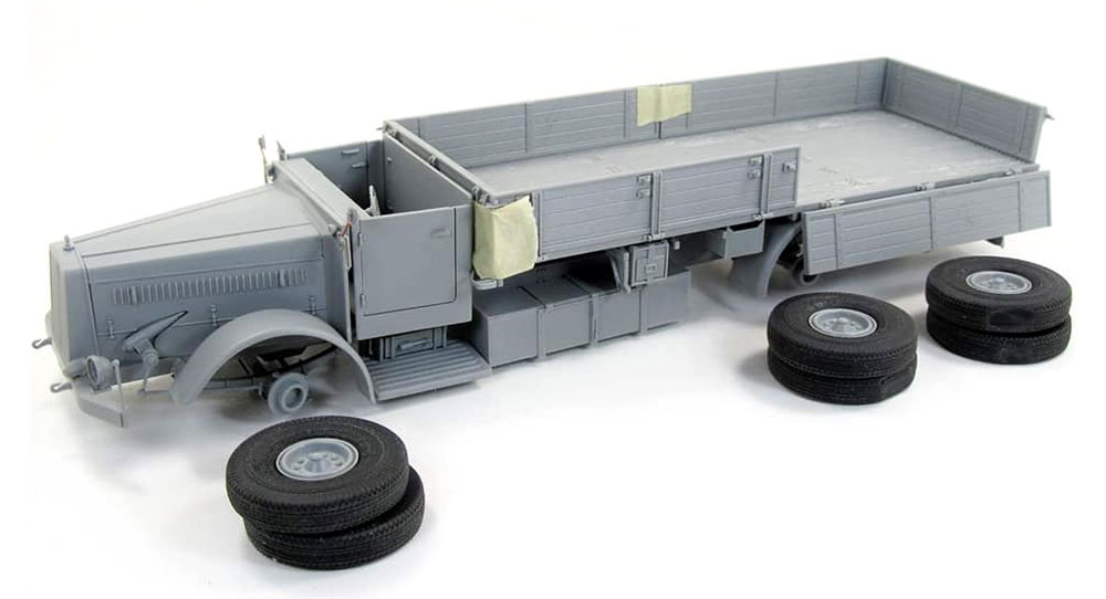 ファウン L900 トラック w/SdAh115 トレーラープラモデル(ダス ヴェルク1/35 ミリタリーNo.DW35003)商品画像_3
