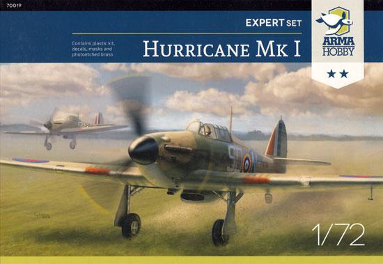 ホーカー ハリケーン Mk.1 エキスパートセットプラモデル(アルマホビー1/72 エアクラフト プラモデルNo.70019)商品画像