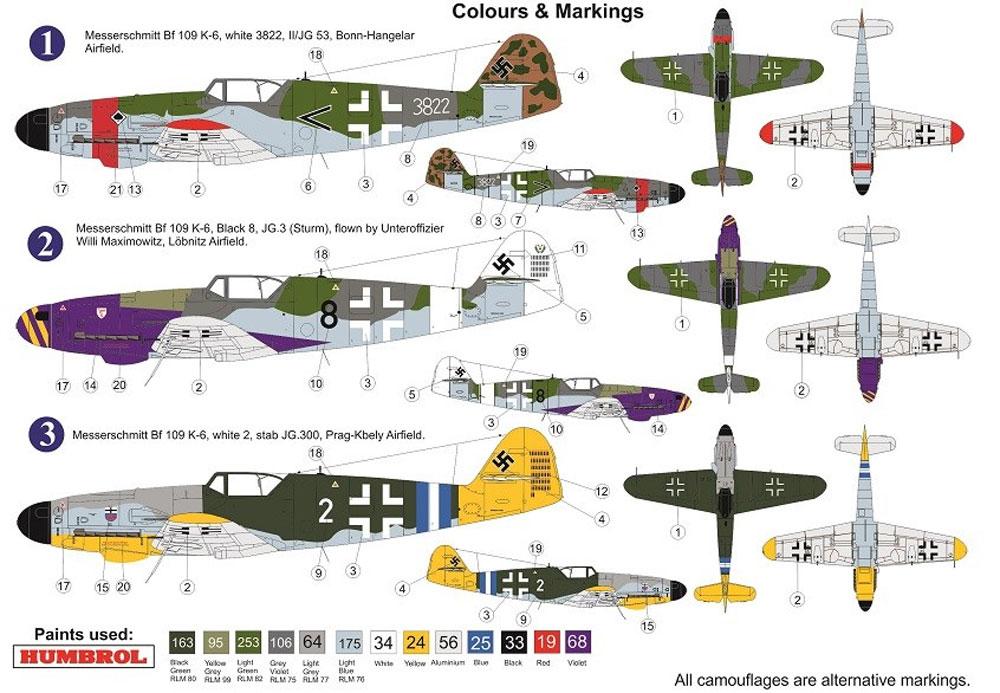 メッサーシュミット Bf109K-6 クーアフュルストプラモデル(AZ model1/72 エアクラフト プラモデルNo.AZ7600)商品画像_1