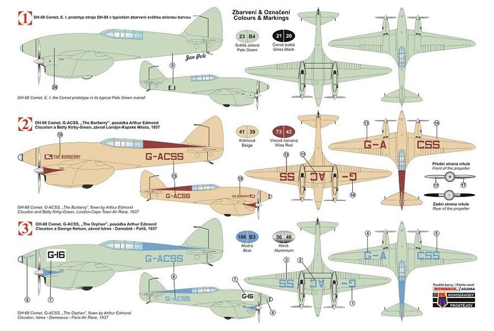 デハビラント D.H.88 コメット プロトタイプ・レース機プラモデル(KPモデル1/72 エアクラフト プラモデルNo.KPM0104)商品画像_1