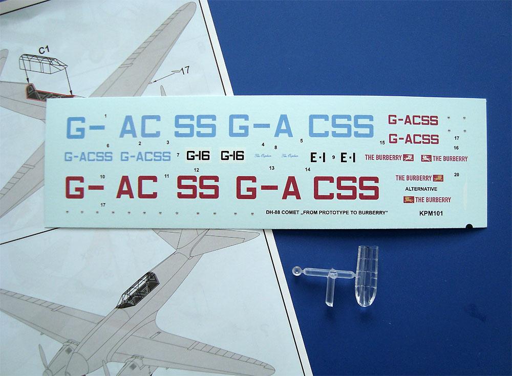 デハビラント D.H.88 コメット プロトタイプ・レース機プラモデル(KPモデル1/72 エアクラフト プラモデルNo.KPM0104)商品画像_2