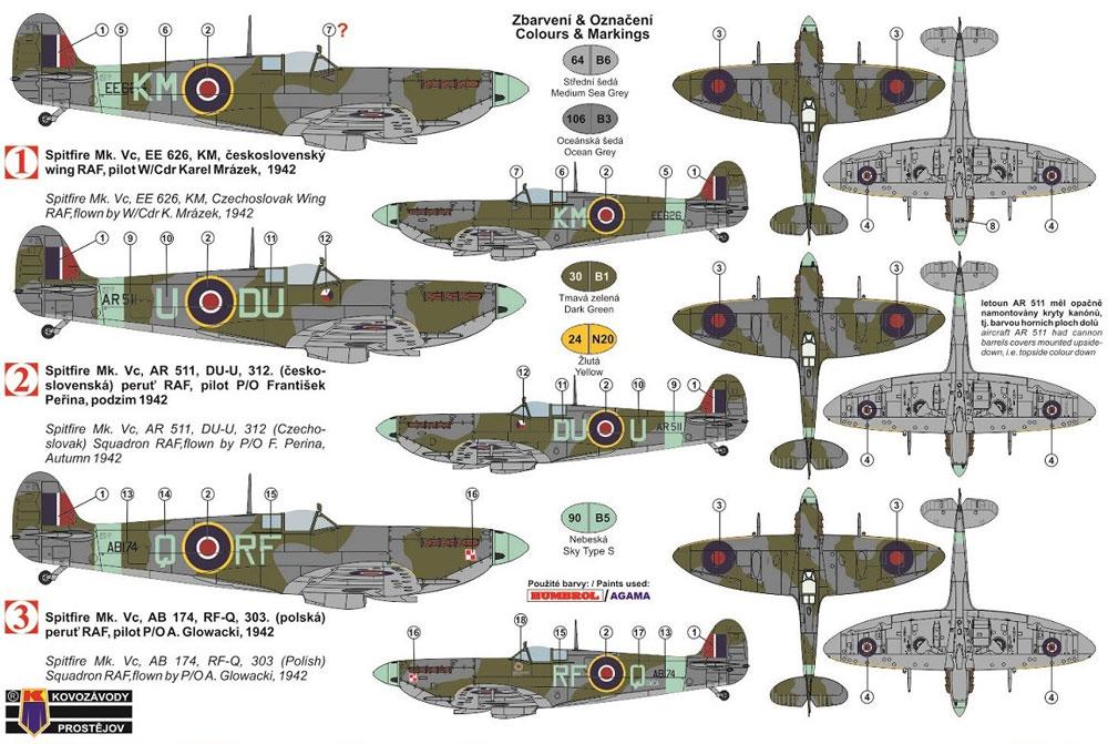 スーパーマリン スピットファイア Mk.5c 連合軍戦闘機プラモデル(KPモデル1/72 エアクラフト プラモデルNo.KPM0124)商品画像_1