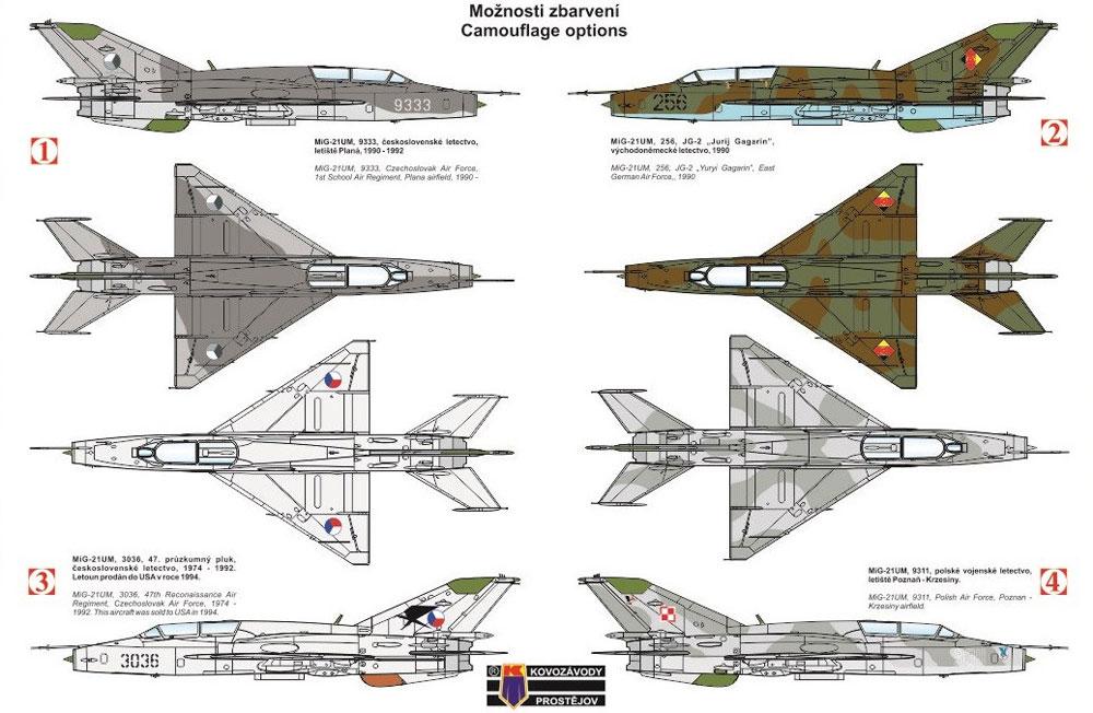 MiG-21UM モンゴル Bプラモデル(KPモデル1/72 エアクラフト プラモデルNo.KPM0108)商品画像_1