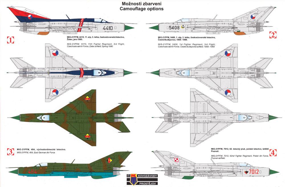 MiG-21PFM フィッシュベッド Fプラモデル(KPモデル1/72 エアクラフト プラモデルNo.KPM0122)商品画像_1