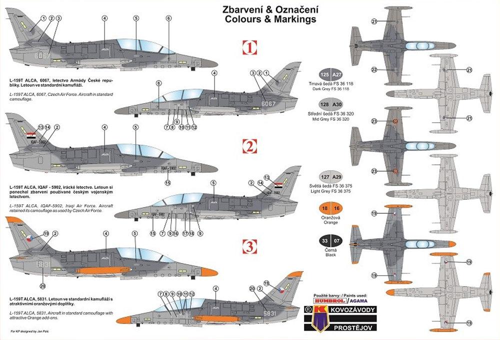 アエロ L-159T ALCAプラモデル(KPモデル1/72 エアクラフト プラモデルNo.KPM0114)商品画像_1