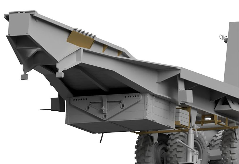 イギリス スキャメル パイオニア TRCU30 30t トレーラー グースネックプラモデル(サンダーモデルプラスチックモデルキットNo.35208)商品画像_3