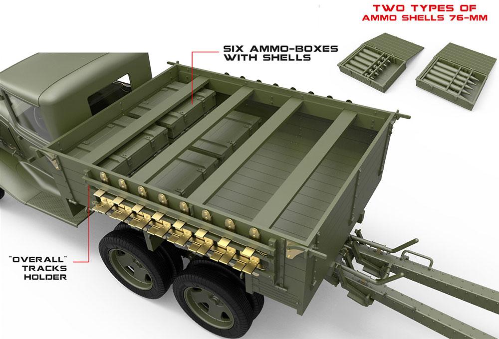 ソビエト 2トン 6x4 トラック w/76mm USV-BRプラモデル(ミニアート1/35 WW2 ミリタリーミニチュアNo.35272)商品画像_2