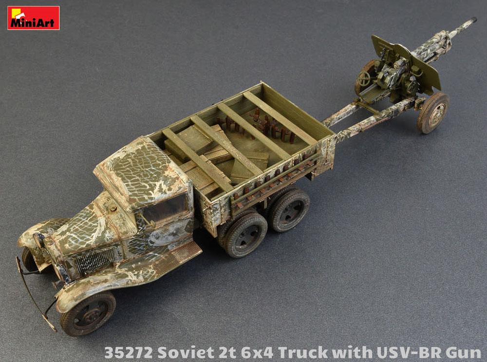 ソビエト 2トン 6x4 トラック w/76mm USV-BRプラモデル(ミニアート1/35 WW2 ミリタリーミニチュアNo.35272)商品画像_3