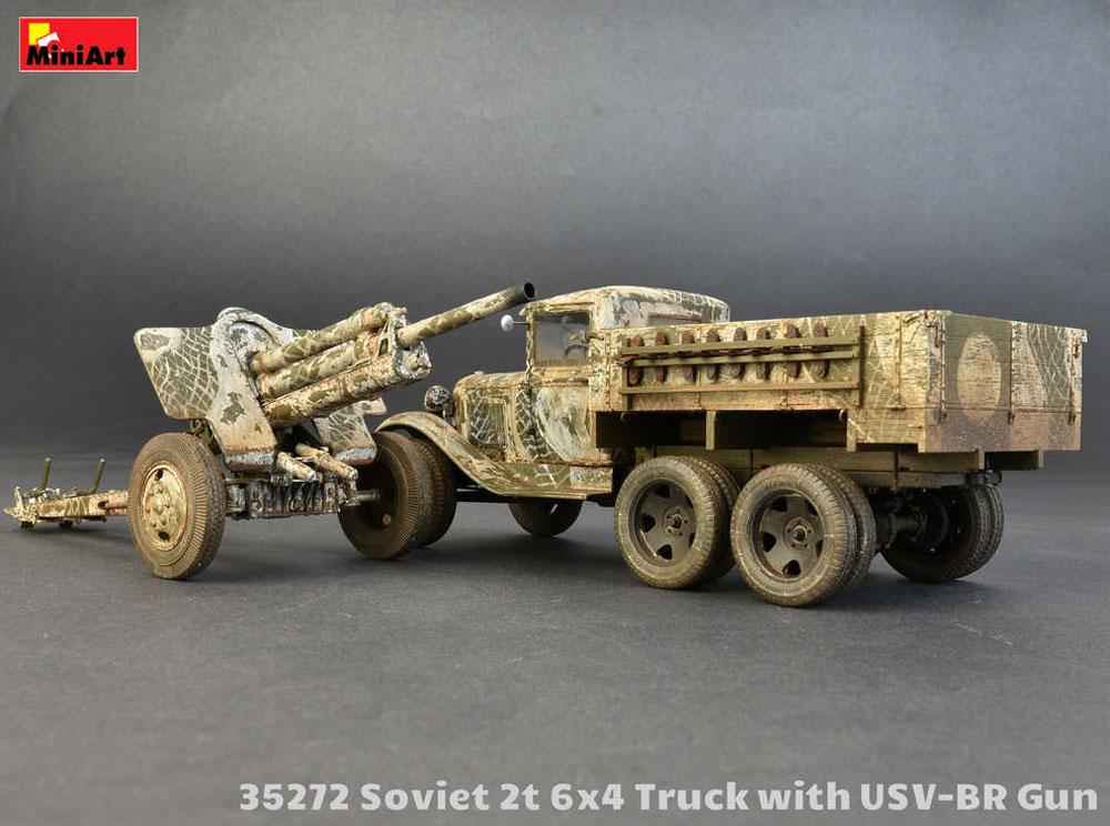 ソビエト 2トン 6x4 トラック w/76mm USV-BRプラモデル(ミニアート1/35 WW2 ミリタリーミニチュアNo.35272)商品画像_4
