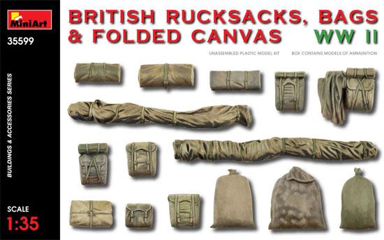 イギリス 軍用リュックサック、フィールドキャンバス & バッグ WW2プラモデル(ミニアート1/35 ビルディング&アクセサリー シリーズNo.35599)商品画像