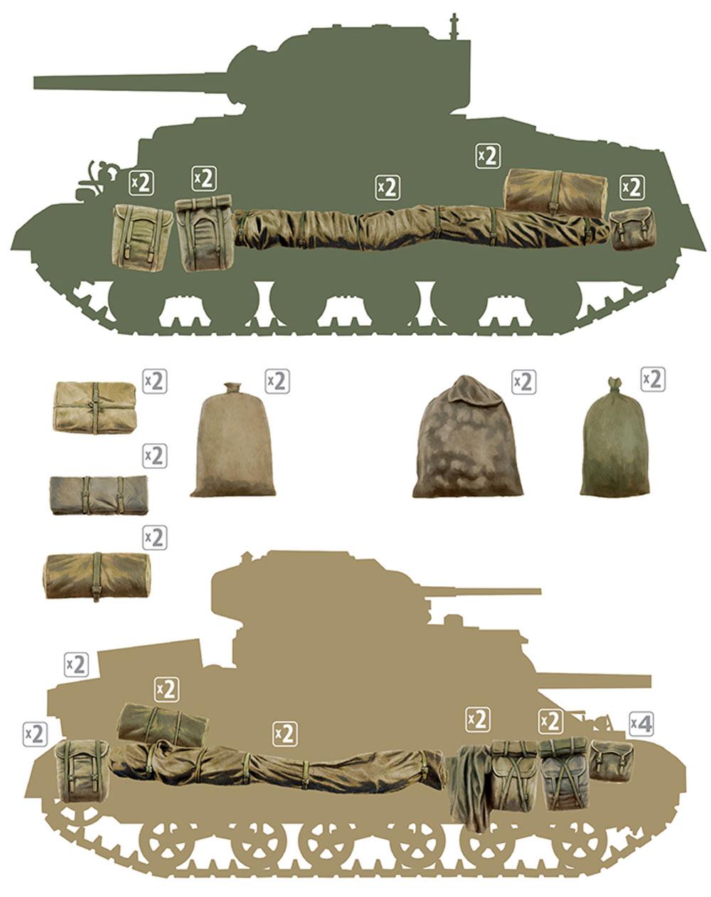 イギリス 軍用リュックサック、フィールドキャンバス & バッグ WW2プラモデル(ミニアート1/35 ビルディング&アクセサリー シリーズNo.35599)商品画像_1