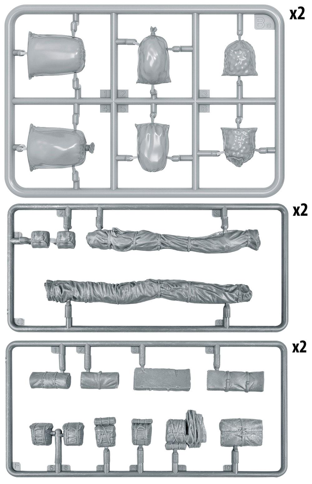 イギリス 軍用リュックサック、フィールドキャンバス & バッグ WW2プラモデル(ミニアート1/35 ビルディング&アクセサリー シリーズNo.35599)商品画像_2