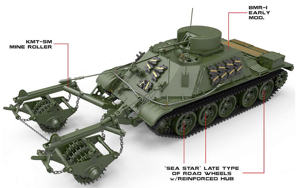BMR-1 初期型 KMT-5M 地雷除去車プラモデル(ミニアート1/35 ミリタリーミニチュアNo.37034)商品画像_1