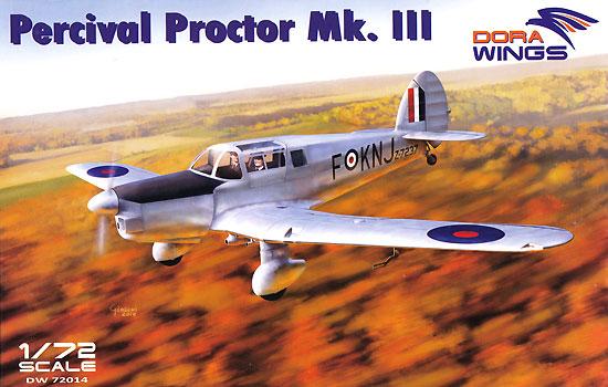 パーシヴァル プロクター Mk.3プラモデル(ドラ ウイングス1/72 エアクラフト プラモデルNo.DW72014)商品画像
