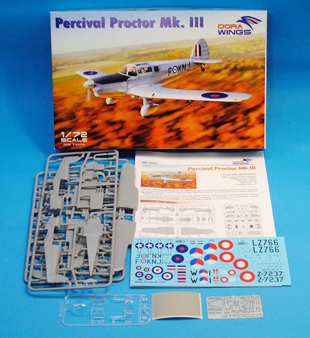パーシヴァル プロクター Mk.3プラモデル(ドラ ウイングス1/72 エアクラフト プラモデルNo.DW72014)商品画像_1