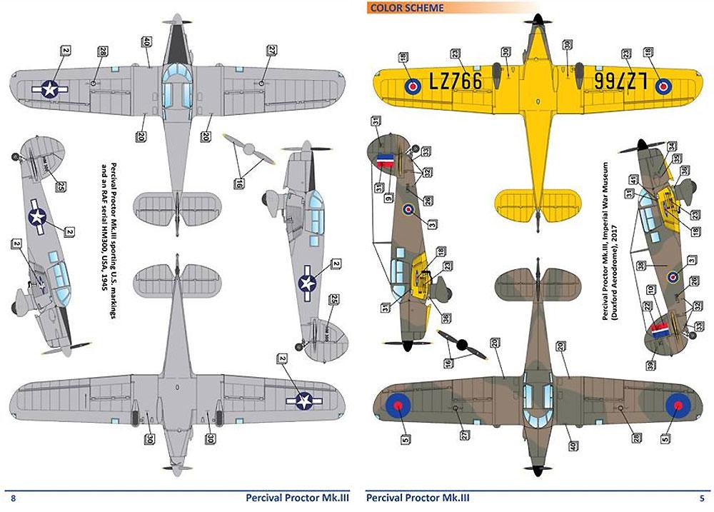 パーシヴァル プロクター Mk.3プラモデル(ドラ ウイングス1/72 エアクラフト プラモデルNo.DW72014)商品画像_3