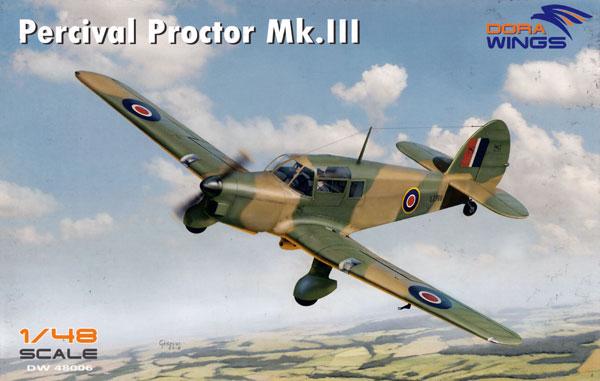 パーシヴァル プロクター Mk.3プラモデル(ドラ ウイングス1/48 エアクラフト プラモデルNo.DW48006)商品画像