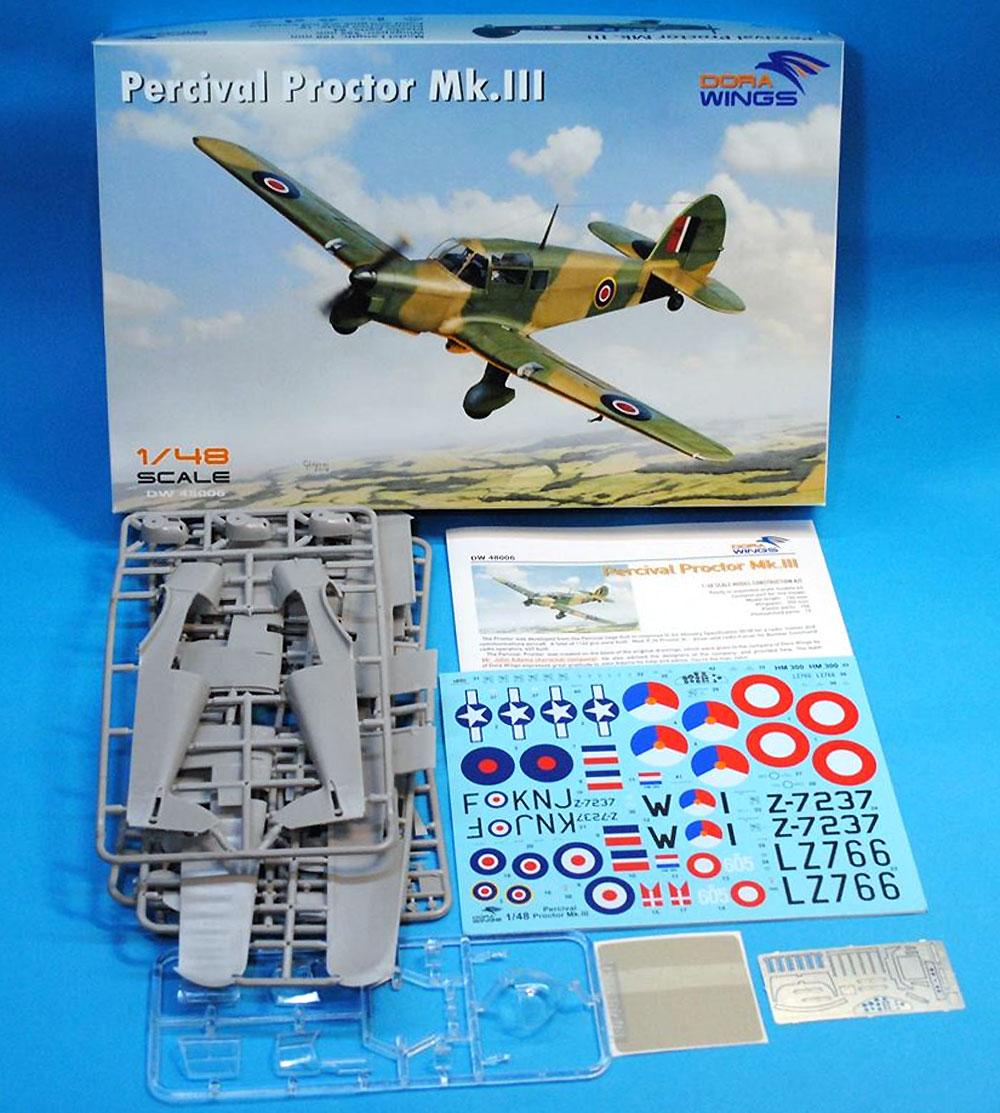 パーシヴァル プロクター Mk.3プラモデル(ドラ ウイングス1/48 エアクラフト プラモデルNo.DW48006)商品画像_1