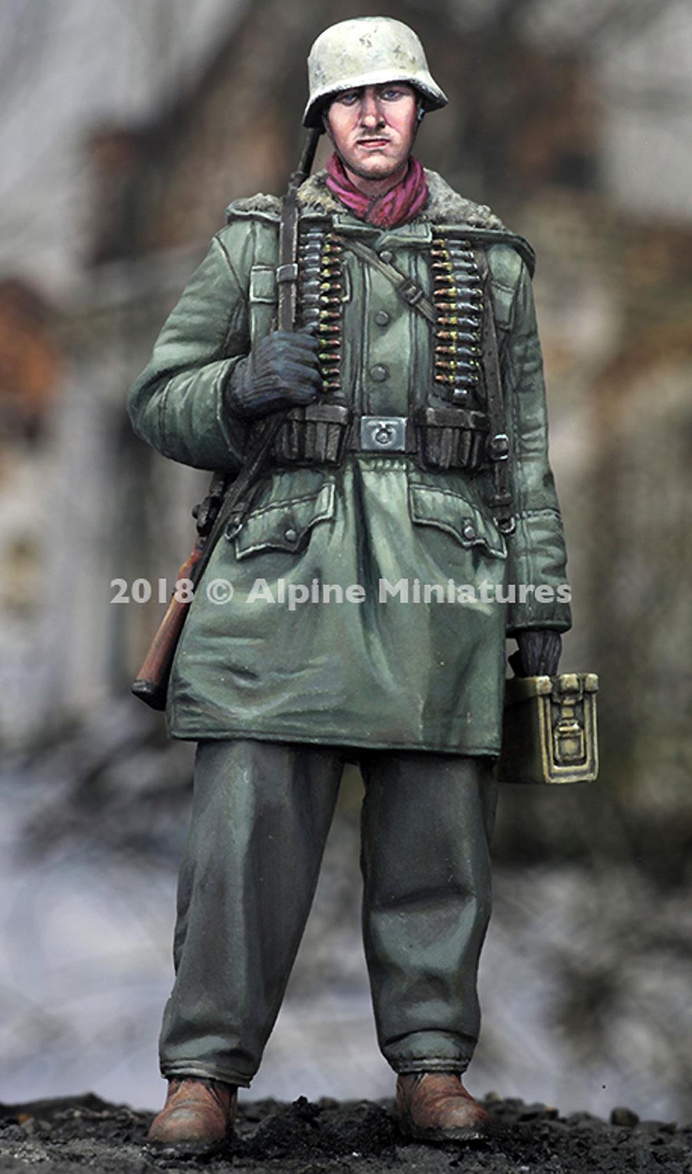 WW2 ドイツ 武装親衛隊 弾薬箱を持つ兵士 ハリコフレジン(アルパイン1/35 フィギュアNo.AM35257)商品画像_2