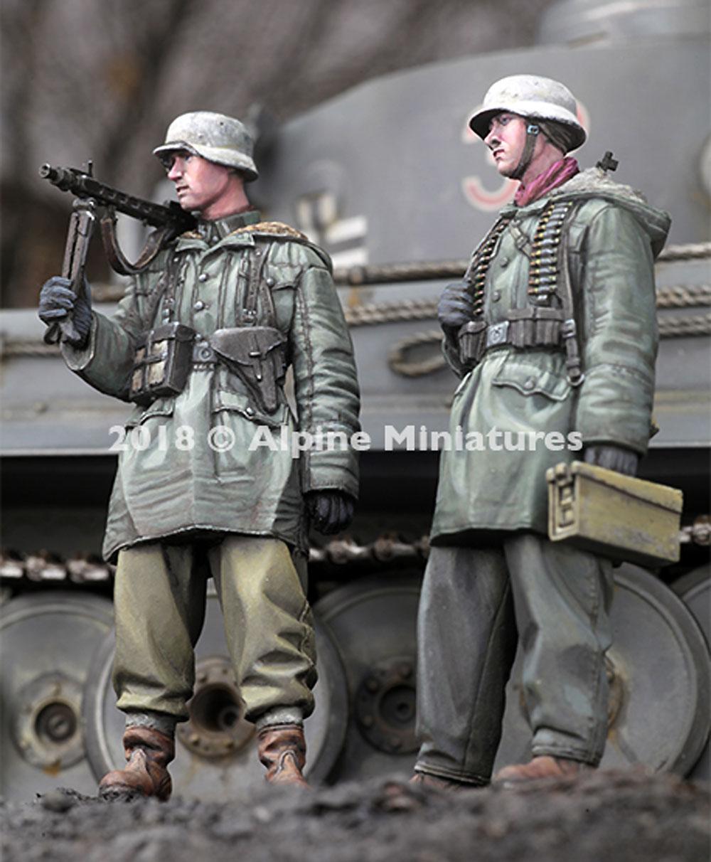 WW2 ドイツ 武装親衛隊 MG42機関銃チーム ハリコフ 2体セットレジン(アルパイン1/35 フィギュアNo.AM35258)商品画像_2