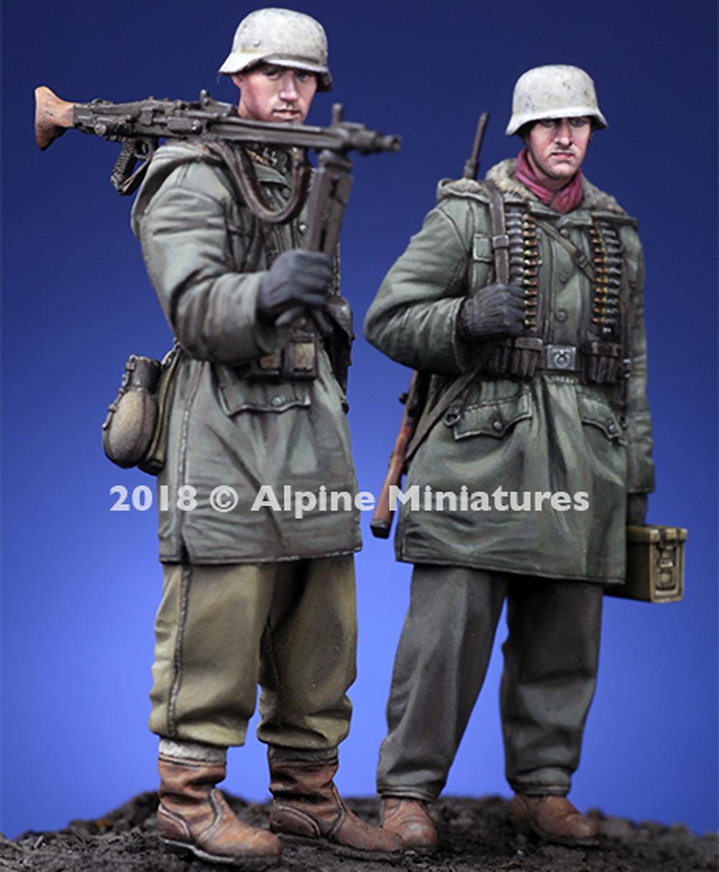 WW2 ドイツ 武装親衛隊 MG42機関銃チーム ハリコフ 2体セットレジン(アルパイン1/35 フィギュアNo.AM35258)商品画像_3