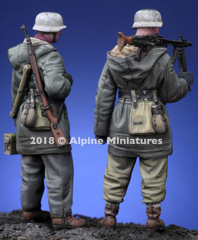 WW2 ドイツ 武装親衛隊 MG42機関銃チーム ハリコフ 2体セットレジン(アルパイン1/35 フィギュアNo.AM35258)商品画像_4
