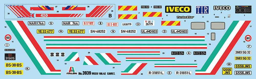 イヴェコ ターボスター 190-42 キャンバストラックプラモデル(イタレリ1/24 トラックシリーズNo.3939)商品画像_1