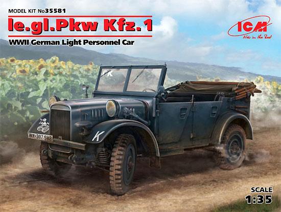 ドイツ le.gl.Pkw Kfz.1 軽四輪駆動車プラモデル(ICM1/35 ミリタリービークル・フィギュアNo.35581)商品画像