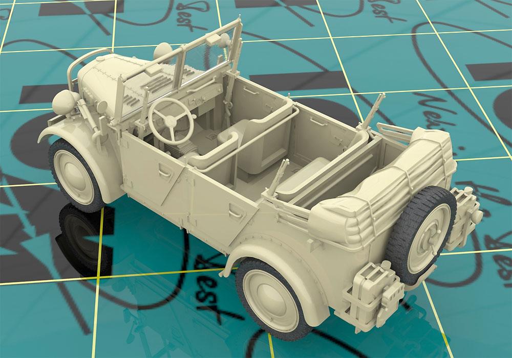 ドイツ le.gl.Pkw Kfz.1 軽四輪駆動車プラモデル(ICM1/35 ミリタリービークル・フィギュアNo.35581)商品画像_3