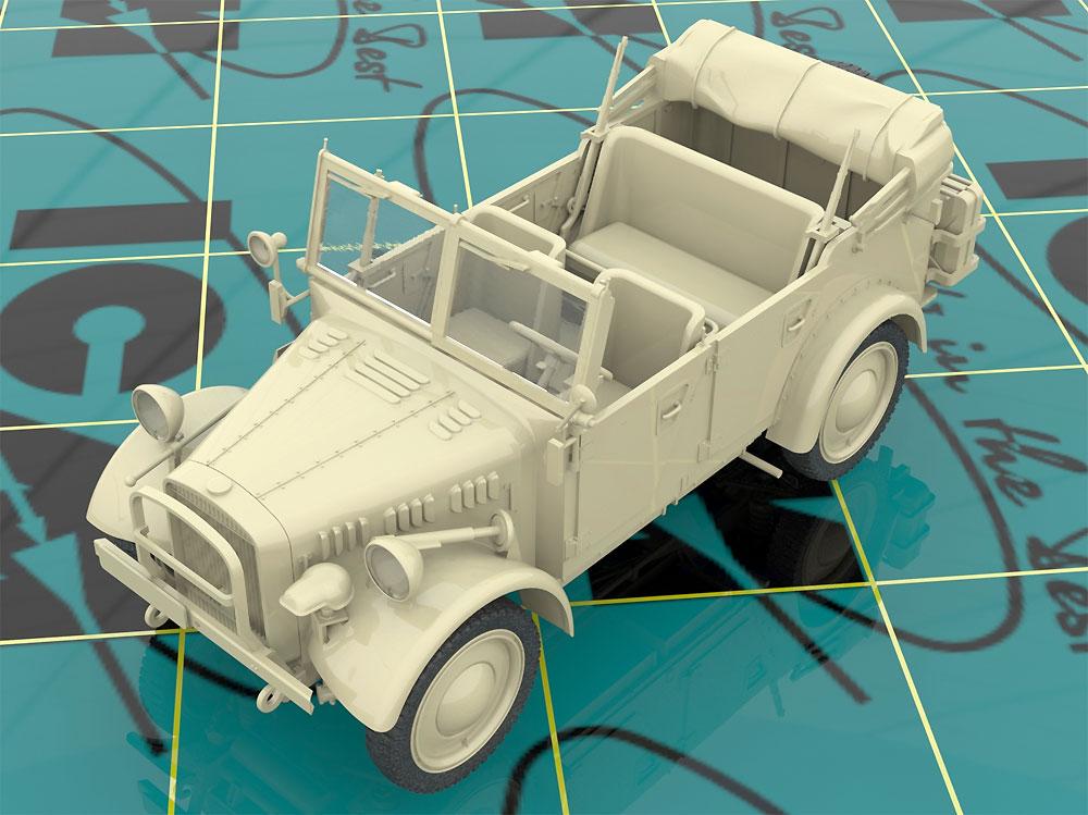 ドイツ le.gl.Pkw Kfz.1 軽四輪駆動車プラモデル(ICM1/35 ミリタリービークル・フィギュアNo.35581)商品画像_4
