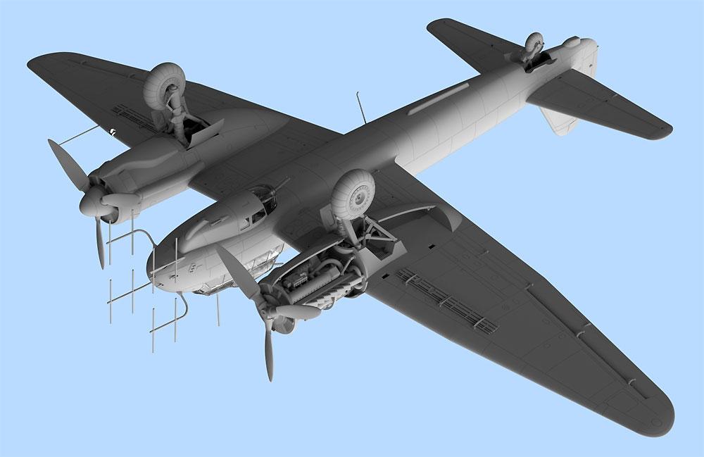 ユンカース Ju88C-6b 夜間戦闘機プラモデル(ICM1/48 エアクラフト プラモデルNo.48239)商品画像_3