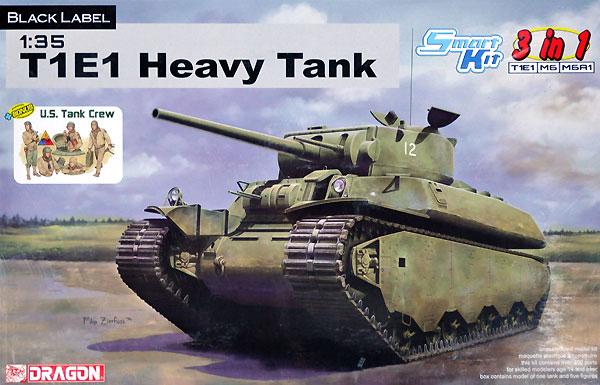 アメリカ陸軍 試作重戦車 T1E1 3 in 1プラモデル(ドラゴン1/35 BLACK LABELNo.6936)商品画像