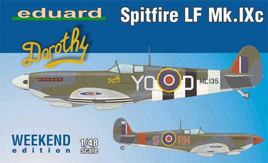 スピットファイア LF Mk.9cプラモデル(エデュアルド1/48 ウィークエンド エディションNo.74151)商品画像