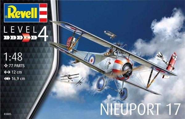 ニューポール 17プラモデル(レベル1/48 飛行機モデルNo.03885)商品画像