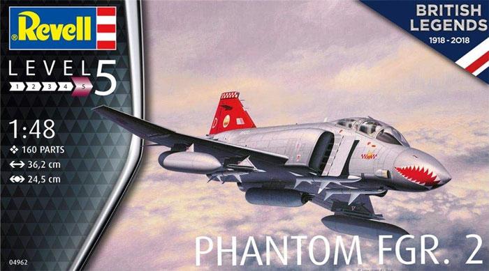 ブリティッシュ ファントム FGR.2プラモデル(レベル1/48 飛行機モデルNo.04962)商品画像