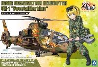 アオシマ1/72 ミリタリーモデルキットシリーズ陸上自衛隊 観測ヘリコプター OH-1 痛オメガ (木更津柚子)