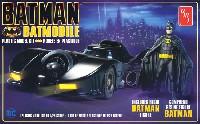amtプラスチックモデルキットバットモービル 1989 バットマンフィギュア付