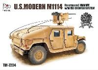 ティーモデル1/72 ミリタリー プラモデルM1114 ハンヴィー w/M153 クロウ 2 システム アイアンオークリーフセット