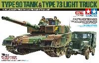 タミヤスケール限定品陸上自衛隊 90式戦車 73式小型トラックセット