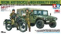 タミヤスケール限定品陸上自衛隊 偵察用オートバイ 高機動車セット
