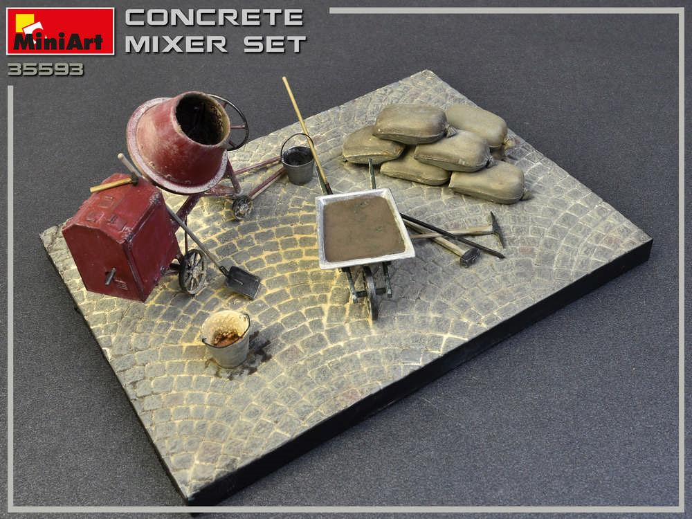 コンクリートミキサーセットプラモデル(ミニアート1/35 ビルディング&アクセサリー シリーズNo.35593)商品画像_3