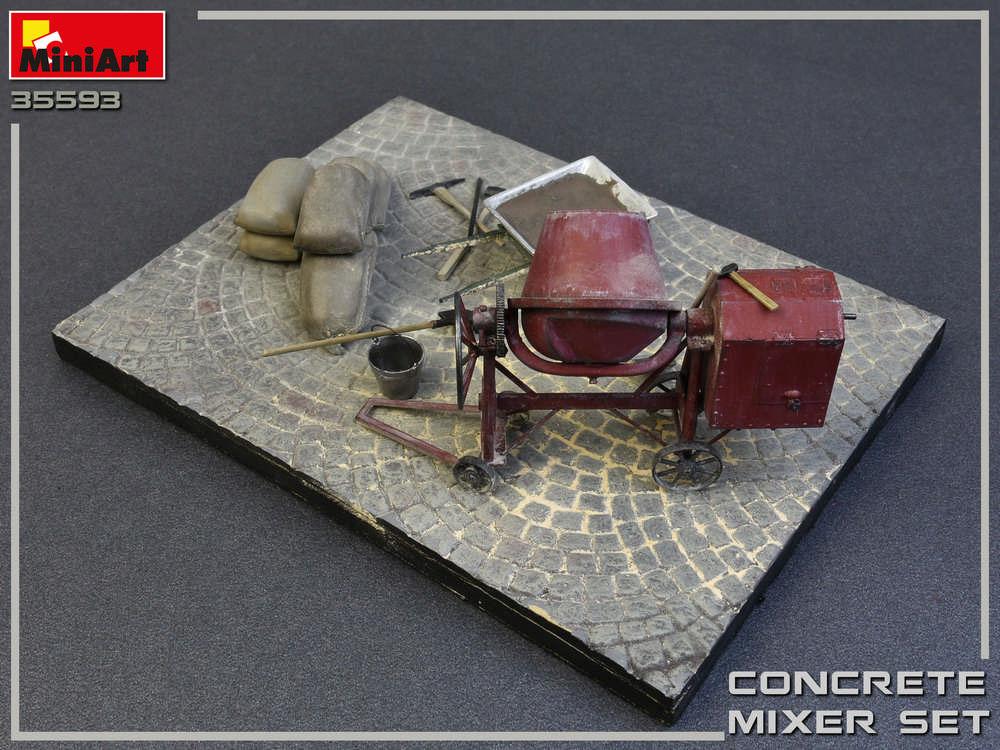 コンクリートミキサーセットプラモデル(ミニアート1/35 ビルディング&アクセサリー シリーズNo.35593)商品画像_4