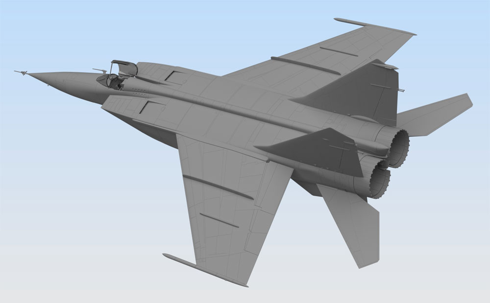 MiG-25 RBプラモデル(ICM1/72 エアクラフト プラモデルNo.72173)商品画像_3