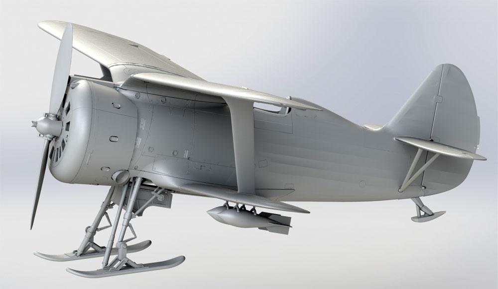 ポリカルポフ I-153 チャイカ 冬季仕様プラモデル(ICM1/32 エアクラフトNo.32011)商品画像_2