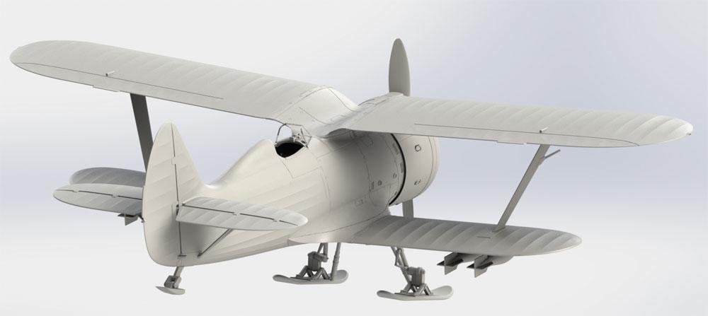 ポリカルポフ I-153 チャイカ 冬季仕様プラモデル(ICM1/32 エアクラフトNo.32011)商品画像_3