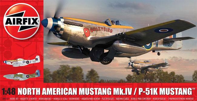 ノースアメリカン ムスタング Mk.4 / P-51K ムスタングプラモデル(エアフィックス1/48 ミリタリーエアクラフトNo.A05137)商品画像