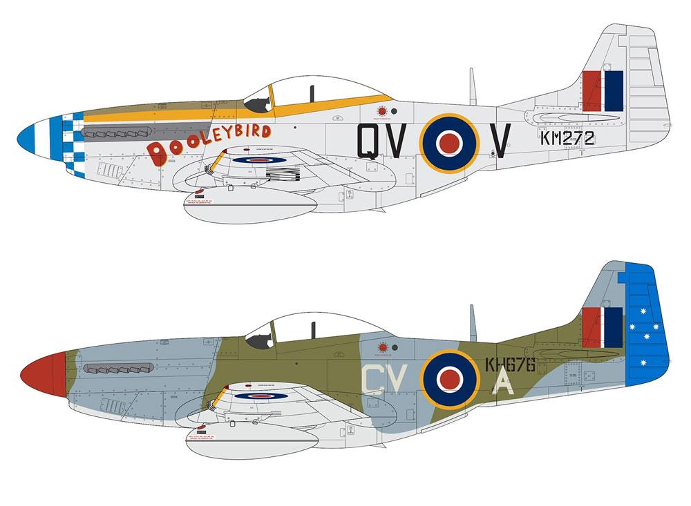 ノースアメリカン ムスタング Mk.4 / P-51K ムスタングプラモデル(エアフィックス1/48 ミリタリーエアクラフトNo.A05137)商品画像_2