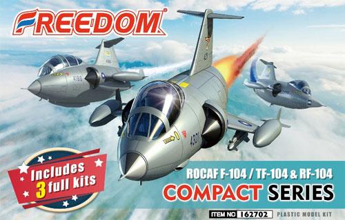 ROCAF F-104/TF-104/RF-104プラモデル(フリーダムモデルコンパクトシリーズNo.162702)商品画像
