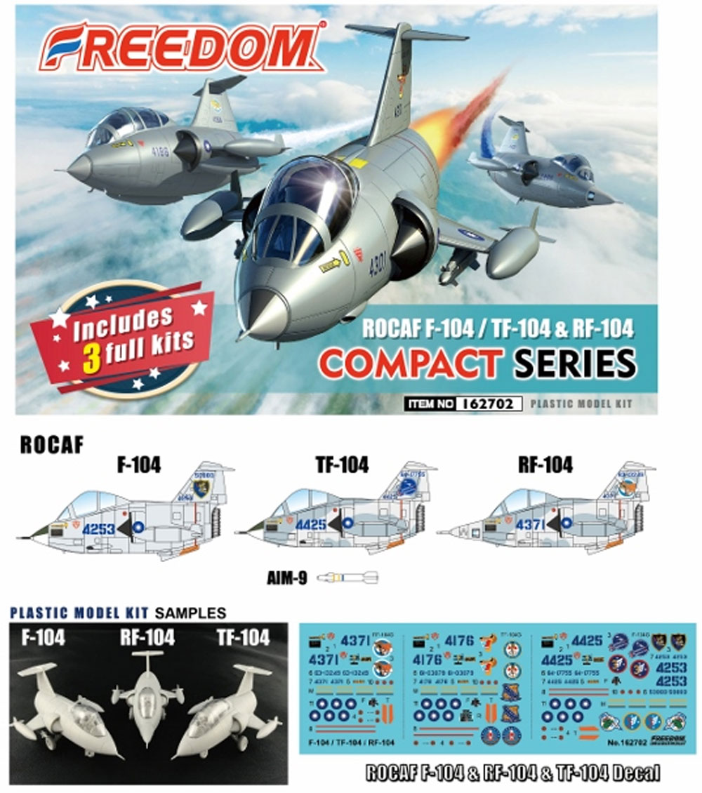 ROCAF F-104/TF-104/RF-104プラモデル(フリーダムモデルコンパクトシリーズNo.162702)商品画像_4