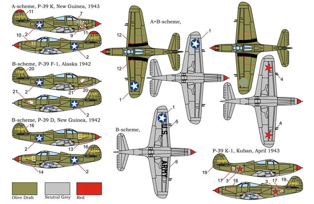 P-39D/F/K エアラコブラプラモデル(ブレンガン1/144 Plastic kits (プラスチックキット)No.BRS144011)商品画像_2
